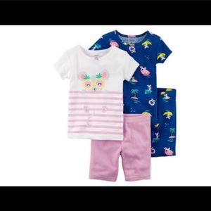 Carters baby girl pajama sets NWT
